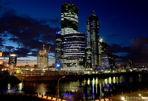 Overview of the Moscow-City, an area marked out for construction of premium office blocks.