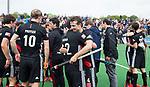 BLOEMENDAAL   - Hockey -  3e en beslissende  wedstrijd halve finale Play Offs heren. Bloemendaal-Amsterdam (0-3). Vreugde bij Nicki Leijs (A'dam)  en Valentin Verga (A'dam)  Amsterdam plaats zich voor de finale.  COPYRIGHT KOEN SUYK