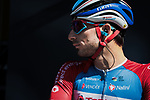 Yesterday's winner Niccolo Bonifazio (ITA) Total Direct Energie at sign on before Stage 6 of the 78th edition of Paris-Nice 2020, running 161.5km from Sorgues to Apt, France. 13th March 2020.<br /> Picture: ASO/Fabien Boukla | Cyclefile<br /> All photos usage must carry mandatory copyright credit (© Cyclefile | ASO/Fabien Boukla)