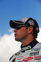 Nov. 14, 2008; Homestead, FL, USA; NASCAR Sprint Cup Series driver Jimmie Johnson during qualifying for the Ford 400 at Homestead Miami Speedway. Mandatory Credit: Mark J. Rebilas-
