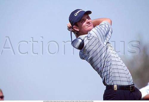 JUSTIN ROSE (ENG), Dubai Desert Classic, Emirates Golf Club, 010301. Photo:Glyn Kirk/Action Plus...2001.Golf.golfer golfers