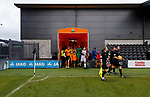 Barnet 2 Morecambe 0, 16/12/2017. The Hive, League Two. The teams take to the pitch. Photo by Paul Thompson.