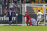 16.07.2017, Stadion an der Bremer Bruecke, Osnabrueck, GER, FSP VfL Osnabrueck vs SV Werder Bremen<br /> <br /> im Bild<br /> Bastian Schulz (VfL Osnabrueck #8), Luca Plogmann (Werder Bremen U19), Dominic Volkmer (SV Werder Bremen U23 #51)<br /> <br /> Foto &copy; nordphoto / Ewert