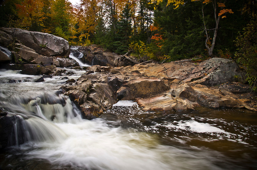 Waterfall on the Yellow Dog River in Marquette County Michigan's Upper Peninsula.