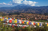 Tibetan prayer flags at Parphing.