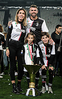 Andrea Barzagli of Juventus and his family celebrate with the trophy the victory of italian championship <br /> Torino 19-05-2018 Allianz Stadium Football Serie A 2018/2019 Juventus - Atalanta  <br /> photo One Nine / Insidefoto