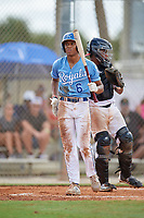 Kendall Diggs (6) during the WWBA World Championship at the Roger Dean Complex on October 10, 2019 in Jupiter, Florida.  Kendall Diggs attends St. Thomas Aquinas High School in Olathe, KS and is committed to Arkansas.  (Mike Janes/Four Seam Images)