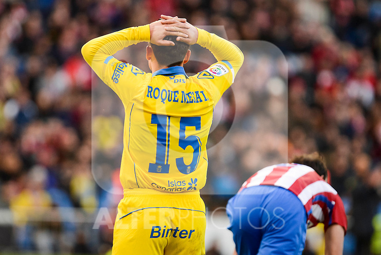UD Las Palmas Roque Mesa during La Liga match between Atletico de Madrid and UD Las Palmas at Vicente Calderon Stadium in Madrid, Spain. December 17, 2016. (ALTERPHOTOS/BorjaB.Hojas)