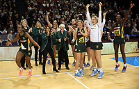 03.09.2017 South Africa's celebrate after the Quad Series netball match between England and South Africa at the ILT Stadium Southland in Invercargill. Mandatory Photo Credit ©Michael Bradley.