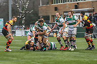 Elliot MILLAR MILLS of Ealing Trailfinders during the Championship Cup match between Ealing Trailfinders and Richmond at Castle Bar , West Ealing , England  on 15 December 2018. Photo by David Horn.