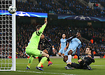Kelechi Iheanacho of Manchester City puts a chance the wrong side of the post during the Champions League Group C match at the Etihad Stadium, Manchester. Picture date: December 6th, 2016. Pic Simon Bellis/Sportimage