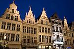 Facades of Grote Markt - Main Square; Antwerp; Belgium; Europe