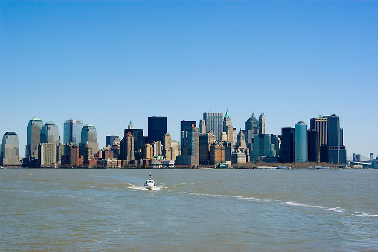 New York City, New York: Skyline of New York lower manhattan post 9-11.  .Photo #: ny218-14642  .Photo copyright Lee Foster, www.fostertravel.com, lee@fostertravel.com, 510-549-2202.
