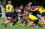 Action during the pre-season 1st XV rugby match between Kings College and Scots College of Australia. Kings College, Auckland, New Zealand. Saturday 9th April 2016. Photo: Simon Watts/www.bwmedia.co.nz