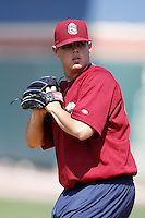 June 24, 2009:  Pitcher Corey Burnes of the Mahoning Valley Scrappers during a game at Eastwood Field in Niles, OH.  The Scrappers are the NY-Penn League Short-Season Single-A affiliate of the Cleveland Indians.  Photo by:  Mike Janes/Four Seam Images