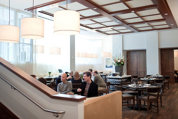 March 6, 2010. Charlotte, North Carolina.. Over the last year, several museums and cultural institutions have opened within a 5 block radius of each other, adding another facet to downtown Charlotte..  The BLT Steak restaurant is attached tothe newly opened Ritz Carlton within blocks of the new museums and institutions.