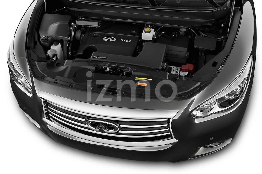 High Angle Engine Detail Of 2013 Infiniti QX35 / JX35