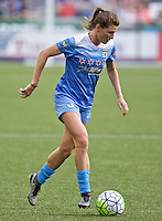 Portland, Oregon - Wednesday June 22, 2016: Chicago Red Stars defender Arin Gilliland (3) during a regular season National Women's Soccer League (NWSL) match at Providence Park.