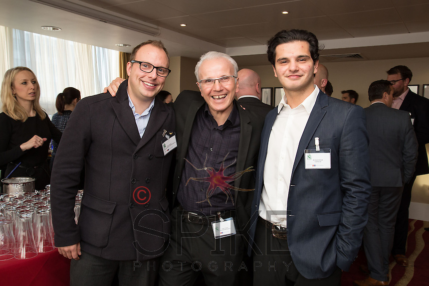 From left are Simon Leadley of Managed Business Communications, Frank Ciaurro and Oscar Ciaurro both of CEMA