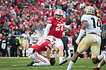 Wisconsin Badgers kicker Rafael Gaglianone (27) kicks a field goal during an NCAA College Football Big Ten Conference game against the Purdue Boilermakers Saturday, October 14, 2017, in Madison, Wis. The Badgers won 17-9. (Photo by David Stluka)