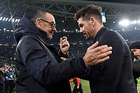 Maurizio Sarri coach of Juventus , Diego Simeone coach of Atletico Madrid <br /> Torino 26/11/2019 Juventus Stadium <br /> Football Champions League 2019//2020 <br /> Group Stage Group D <br /> Juventus - Atletico Madrid <br /> Photo Andrea Staccioli / Insidefoto