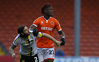 Burton Albion's John Brayford is closely marked by Blackpool's Armand Gnanduillet<br /> <br /> Photographer Stephen White/CameraSport<br /> <br /> The EFL Sky Bet League One - Blackpool v Burton Albion - Saturday 24th November 2018 - Bloomfield Road - Blackpool<br /> <br /> World Copyright © 2018 CameraSport. All rights reserved. 43 Linden Ave. Countesthorpe. Leicester. England. LE8 5PG - Tel: +44 (0) 116 277 4147 - admin@camerasport.com - www.camerasport.com