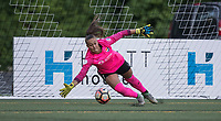 Seattle, WA - Saturday July 22, 2017: Kailen Sheridan during a regular season National Women's Soccer League (NWSL) match between the Seattle Reign FC and Sky Blue FC at Memorial Stadium.