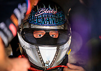 May 31, 2019; Joliet, IL, USA; NHRA funny car driver Blake Alexander during qualifying for the Route 66 Nationals at Route 66 Raceway. Mandatory Credit: Mark J. Rebilas-USA TODAY Sports