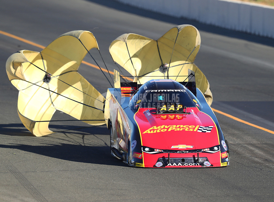 Jul 29, 2017; Sonoma, CA, USA; NHRA funny car driver Courtney Force during qualifying for the Sonoma Nationals at Sonoma Raceway. Mandatory Credit: Mark J. Rebilas-USA TODAY Sports