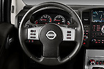 Steering wheel view of 2010 Nissan Navara LE 4 door Pick-Up Truck Stock Photo