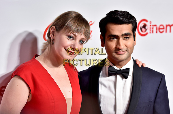 LAS VEGAS, NV - MARCH 30:  Emily Gordon and Kumail Nanjiani at the CinemaCon Big Screen Achievement Awards  at The Colosseum at Caesars Palace during CinemaCon 2017on March 30, 2017 in Las Vegas, Nevada. <br /> CAP/MPI/KLH<br /> &copy;KLH/MPI/Capital Pictures
