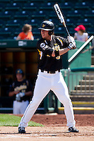 Don Lambert (3) of the Wichita State Shockers at bat during a game against the Missouri State Bears on April 9, 2011 at Hammons Field in Springfield, Missouri.  Photo By David Welker/Four Seam Images