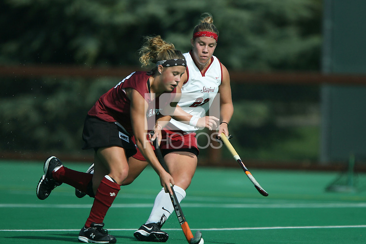 6 November 2007: Stanford Cardinal Katherine Donner during Stanford's 1-0 win against the Lock Haven Lady Eagles in an NCAA play-in game to advance to the NCAA tournament at the Varsity Field Hockey Turf in Stanford, CA.