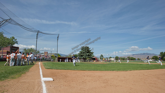 A photo from the Virginia City vs Wells game in the championship of the NIAA Division IV State baseball tournament on Saturday, May 24, 2014 at Sparks High School.