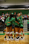DENTON TX - SEPTEMBER 29: Mean Green Volleyball v UTSA, University Texas San Antonio  at at Mean Green Olympic Village in Denton September 29, 2017 in Denton, Texas. (Photo by Rick Yeatts)