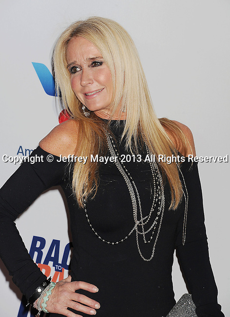 CENTURY CITY, CA- MAY 03: Kim Richards  arrives at the 20th Annual Race To Erase MS Gala 'Love To Erase MS' at the Hyatt Regency Century Plaza on May 3, 2013 in Century City, California.