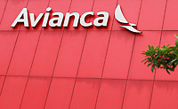 BOGOTA, COLOMBIA - MAY 11 : The logo of aviation company Avianca is seen on the headquarters building on May 11, 2020 in Bogota, Colombia. Colombian flag carrier bankruptcy filing was spurred by the COVID-19travel restrictions, which have reduced company income by over 80%. (Photo by John Vizcaino/VIEWpress)