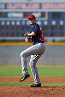 Cleveland Indians pitcher Ryan Colegate (64) during an instructional league game against the Los Angeles Dodgers on October 15, 2015 at the Goodyear Ballpark Complex in Goodyear, Arizona.  (Mike Janes/Four Seam Images)