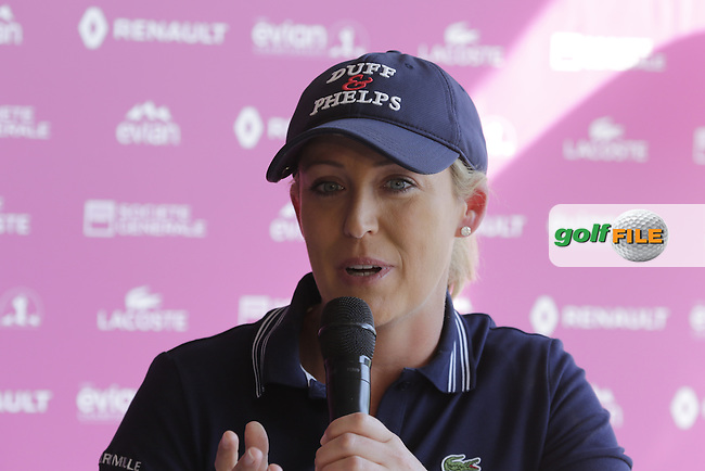 Kristie Kerr (USA) at the opening press conference during Wednesday's Pro-Am of the LPGA 2015 Evian Championship, Evian les Bains, France. 09/09/2015.<br /> Picture Eoin Clarke | Golffile