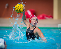 STANFORD, CA - April 20, 2019: Madison Stamen at Avery Aquatic Center. The #1 Stanford Cardinal took down the #20 San Jose State Spartans 22-4.