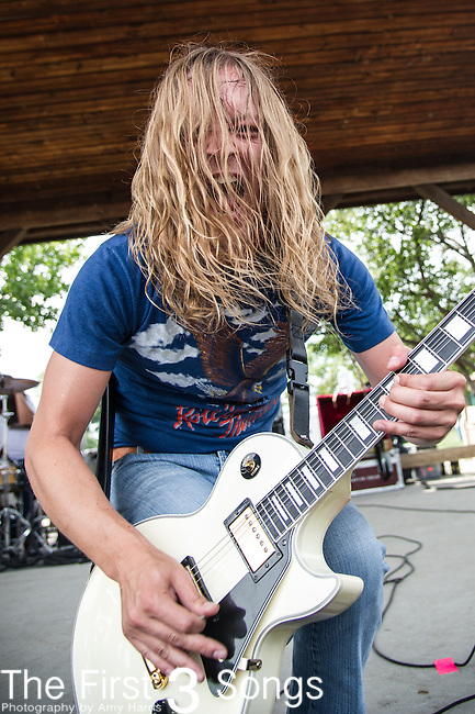 Chris Cowart of Scorpion Child performs during the 2013 Mayhem Festival at Klipsch Music Center in Indianapolis, Indiana.