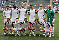 NE Revolution starting XI before the start of the game during a MLS match. The New England Revolution defeated the Chivas USA 2-1 at Home Depot Center Stadium, in Carson, Calif., on Sunday, May 11, 2008.