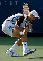 Nikolay Davydenko RUS (8) against Jan Hernych (CZE) in the second round. Davydenko beat Hernych 6-4 6-1 6-2  ..International Tennis - US Open - Day 3 Wed 02 Sep 2009 - USTA Billie Jean King National Tennis Center - Flushing - New York - USA ..© Frey, Advantage Media Network, Level 1, Barry House, 20-22 Worple Road, London, SW19 4DH +44 208 947 0100..