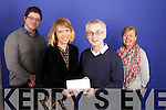 Rebecca Kemp winner of Kerry's Eye Short Story Competition being presented with her prize by Editor Colin Lacey also in photo are Judges Kerry County Councils Writer in Residence Noel O'Regan and Breda Joy