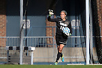 03 November 2013: North Carolina's Anna Sieloff. The University of North Carolina Tar Heels hosted the Boston College Eagles at Fetzer Field in Chapel Hill, NC in a 2013 NCAA Division I Women's Soccer match and the quarterfinals of the Atlantic Coast Conference tournament. North Carolina won the game 1-0.
