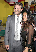 "09 August 2016 - Westwood, California - Seth Rogen and Salma Hayek. ""Sausage Party"" Los Angeles Premiere held at Regency Village Theatre. Photo Credit: Sammi/AdMedia"