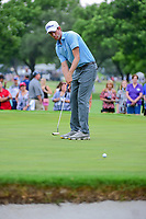 Webb Simpson (USA) barely misses his birdie attempt on 2 during round 4 of the Dean &amp; Deluca Invitational, at The Colonial, Ft. Worth, Texas, USA. 5/28/2017.<br /> Picture: Golffile | Ken Murray<br /> <br /> <br /> All photo usage must carry mandatory copyright credit (&copy; Golffile | Ken Murray)