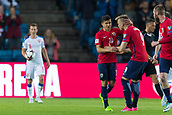 June 10th 2017, Ullevaal Stadion, Oslo, Norway; World Cup 2018 Qualifying football, Norway versus Czech Republic; Alexander Soderlund of Norway celebrates with Tarik Elyounoussi of Norway after scoring a goal during the FIFA World Cup qualifying match