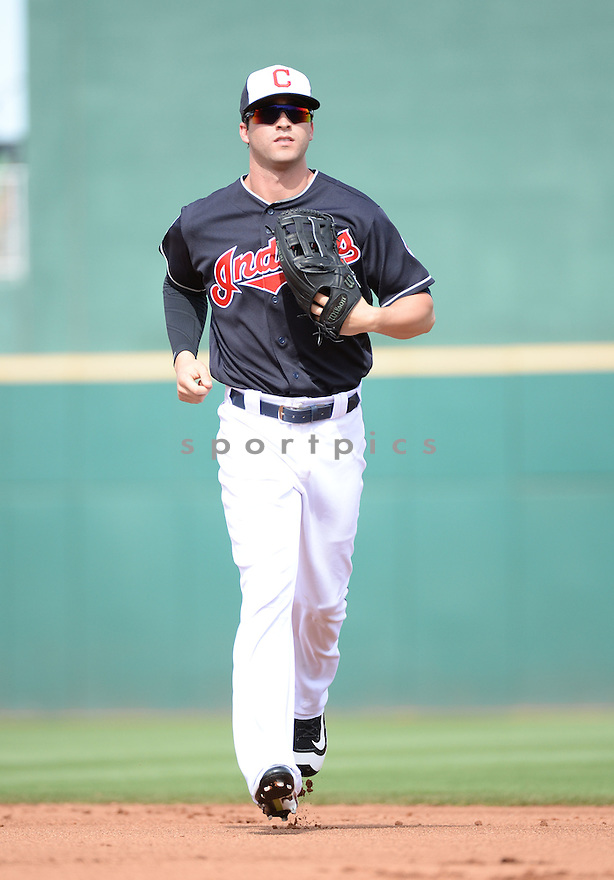 Cleveland Indians Tyler Naquin (72) during a pre-season game against the Cincinnati Reds on March 1, 2016 at Goodyear Ballpark in Goodyear, AZ. The Reds beat the Indians 6-5.