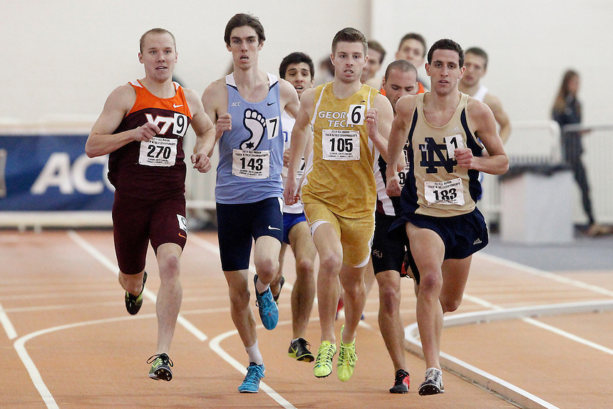 Virginia Tech's Grant Pollock (270) North Carolina's Isaac Presson (143) Georgia Tech's Jeremy Greenwald (105) Notre Dame's J.P. Malette (183)